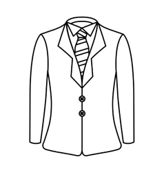 elegant gentleman suit icon vector image