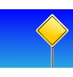 Empty traffic sign vector