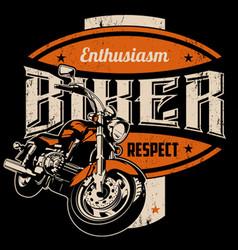 Enthusiasm biker vector