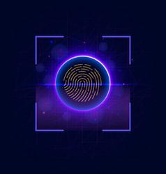 fingerprint scanning identification system vector image