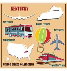 Flat map of Kentucky vector image