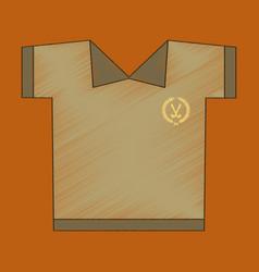 Flat shading style icon golf shirt vector