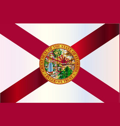 Florida state metal flag vector
