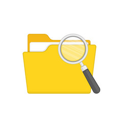 folder with magnifying glass vector image