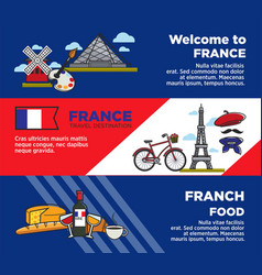france travel destination advertisement banners vector image