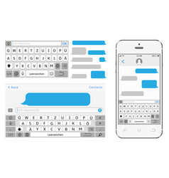 germany alphabet virtual keyboard phone vector image