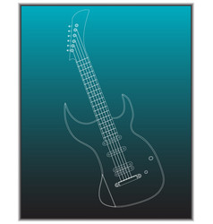 guitar on a turquoise vector image
