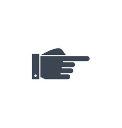 Hand direction related glyph icon vector