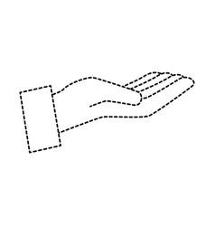 Hand human receiving icon vector