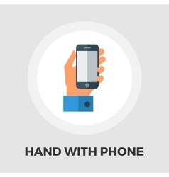 Hands holding Mobile phone flat icon vector