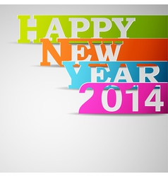 Happy new year 2014 paper strips vector