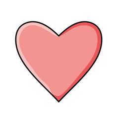 heart love pop art style vector image