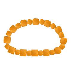 honey color necklace icon cartoon style vector image