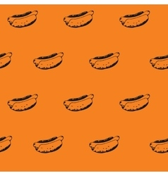 Hot Dogs Background Hotdogs Seamless Pattern vector image