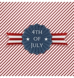 Independence Day 4th of July paper Emblem vector image
