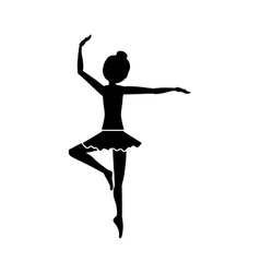 Isolated girl practice ballet design vector