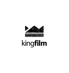 King film logo design concept vector