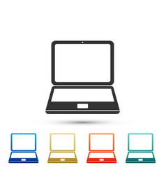 laptop icon isolated on white background vector image