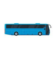 modern blue bus side view public transportation vector image