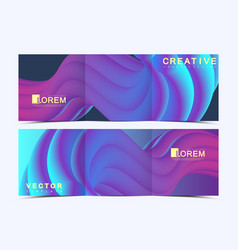 modern template for trifold square brochure vector image