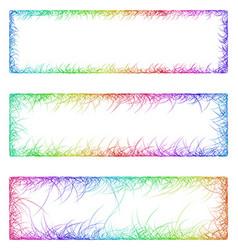 Multicolored sketch banner frame design set vector image