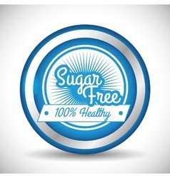 No sugar or sugar free vector