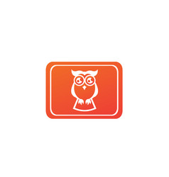 owl open eyes for logo design wise bird in a vector image