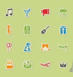 Party simply icons vector