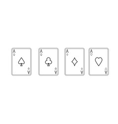 playing cards black color icon vector image
