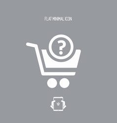 Question about purchasing - flat icon vector