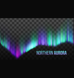 Realistic northern aurora atmosphere light vector
