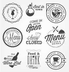 Restaurant Menu Design Elements in Vintage Style vector image