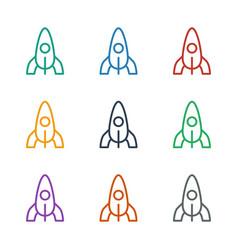 Rocket icon white background vector