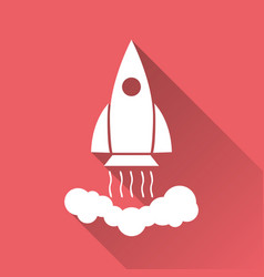 rocket pictogram icon simple flat pictogram for vector image