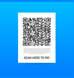 scan to pay smartphone to scan qr code on paper vector image