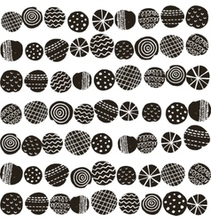 Seamless black and white pattern in scandinavian vector image