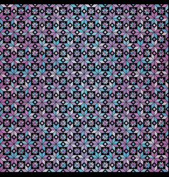 seamless blue-pink geometric gradient floral vector image