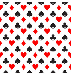 Seamless pattern background of poker suits - vector