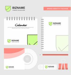 sheild logo calendar template cd cover diary and vector image