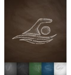 Swimmer icon vector