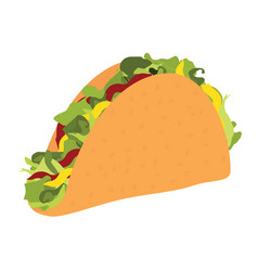 taco mexican food traditional tacos vector image