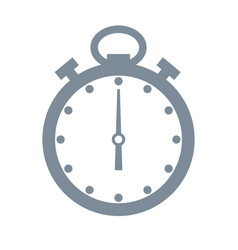 timer and time grey object vector image