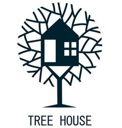 tree house logo template design vector image