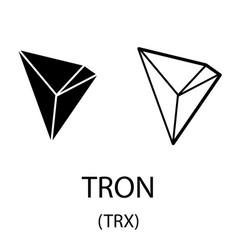 Tron black silhouette vector