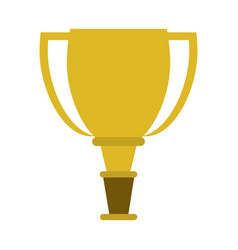 trophy cup icon image vector image