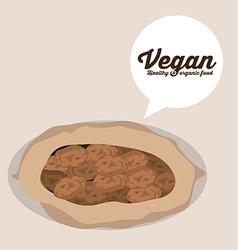 Vegan design vector