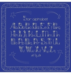 Vintade alphabet Letters and frame with vector