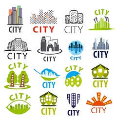 biggest collection of city logo vector image vector image