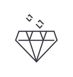 diamond line icon sign on vector image