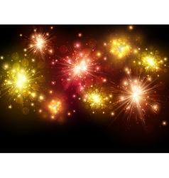 Festive colourful firework background vector image